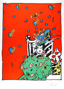 Peter Max, Ladyin Green, Lithograph