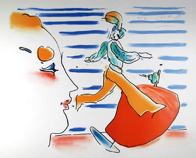 Peter Max, The Red Sail, Lithograph