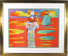 Peter Max, Monk at Red Sea, Lithograph