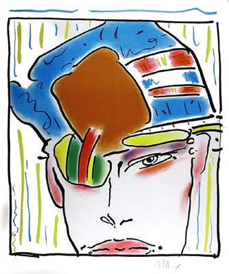 Peter Max, Zero's Friend, Lithograph