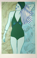 Kiki Kogelnik, Bathing in Green, Serigraph