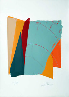 Larry Zox, Red Line II, Abstract Silkscreen