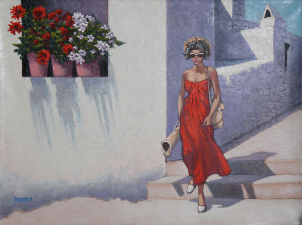 Bassari, Woman in Street Spanish Painting