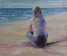 Bassari, Girl on Beach Spanish Painting