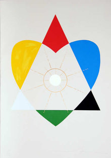 Jonathan Borofsky, Balance of Love, Silkscreen