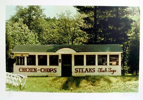 John Baeder, Chops and Steaks, Diner Serigraph