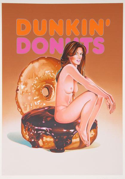 Mel Ramos, Donuts, Signed Lithograph Pin-Up