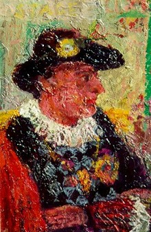Carmen D'avino Oil on Board Renaissance Man