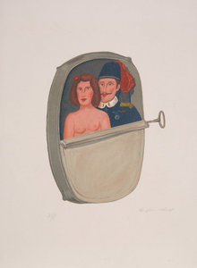 Benjamin Levy, Canned Couple, Lithograph