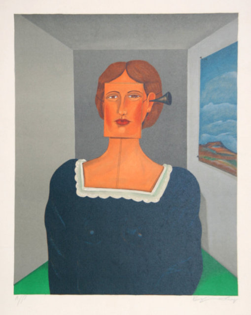 Benjamin Levy, Woman, Lithograph