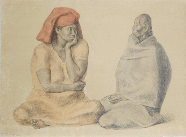 Francisco Zuniga, El Rebozo, Lithograph