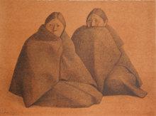Francisco Zuniga, Chamulas Rojo, Lithograph