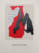 Robert Motherwell, Mostly Mozart, Lithograph