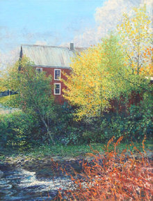 Wally Ames, Vermont Farmhouse, Painting