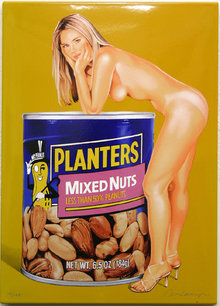 Mel Ramos, Mixed Nuts, Enamel Print