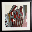 Robert Cottingham, Fox, Framed Silkscreen