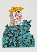 Enrico Baj, Chez Picasso 1, Aquatint Etching