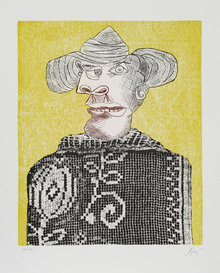 Enrico Baj, Chez Picasso 3, Aquatint Etching