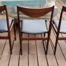 Mid Century Modern by Designer Torbjorn Afdal Solid Rosewood Dining Table and 6 Chairs