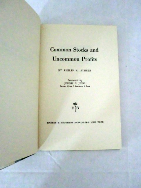 COMMON STOCKS AND UNCOMMON PROFITS (FIRST EDITION)