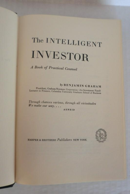 The Intelligent Investor by Benjamin Graham - 1st edition - 3rd printing