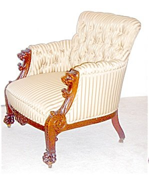 Griffin Mahogany Settee & Arm chair