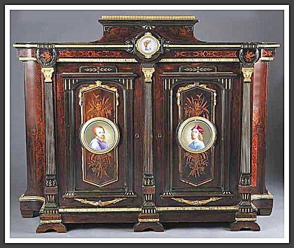 American Renaissance Inlaid & Ebonized Rosewood