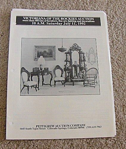 July 11, 1192 -  Pettigrew Auction Catalog