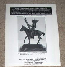 August 21, 1994 -  Pettigrew Auction Catalog,