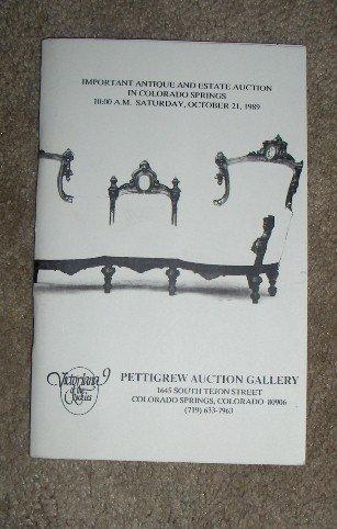 October 21, 1989  -  Pettigrew Auction Catalog,