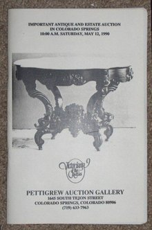 May 12, 1990   -  Pettigrew Auction Catalog,