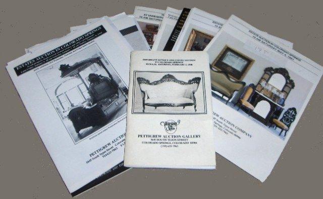 PETTIGREW AUCTION CATALOGS  Great Victorian Ref