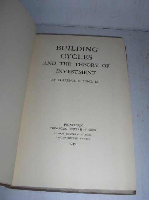 BUILDING CYCLES AND THE THEORY OF INVESTMENT by C. Long