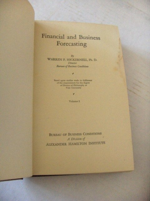 Financial and Business Forecasting - Signed Vol. 1 & 2 by W. Hickernell