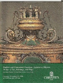 Christie's Auction Catalog - English & Continental Furniture Nov. 22, 1988
