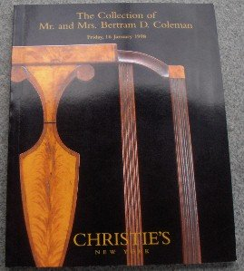 Christie's - Collection of Mr. and Mrs. Bertram D. Cole 01/16/1998