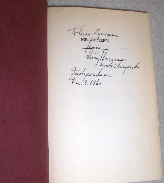 Mr. Citizen by Harry S, Truman (Signed)
