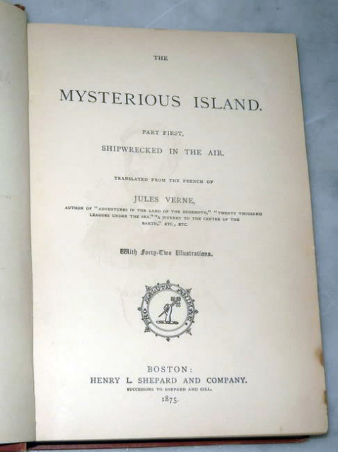 The Mysterious Island - Shipwrecked in the Air by Jules Verne