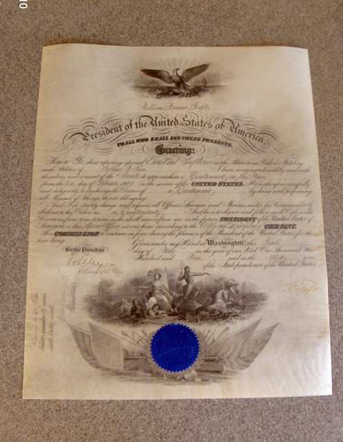 Military Appointment Signed by William H. Taft for Arthur H. Rice
