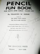 Pencil Fun Book,   Children's Activity Book