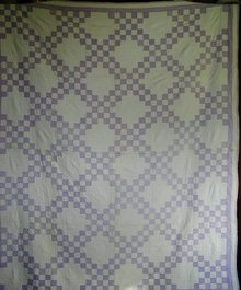 Double Irish Chain Quilt, 1920's,   QLT