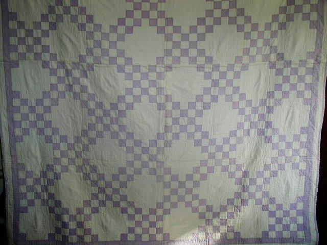 Double Irish Chain Quilt, 1920's,   QLT