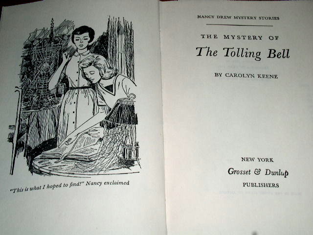 Nancy Drew,  The Mystery of the Tolling Bell Book