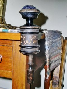 Wood Victorian Sewing Clamp and Pin Cushion