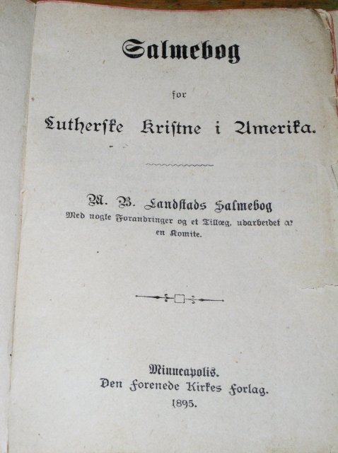 Danish Hymnal - 1895