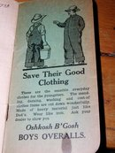 OshKosh B'Gosh Overalls Notebook