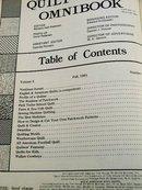 Quilt World Omnibook Magazine,   Fall 1981   - QM