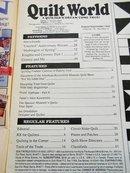 Quilt World  Magazine,   September 1988   - QM