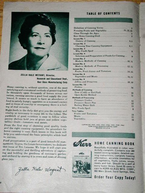 Kerr 10 Short Lessons in Canning Cookbook  -  CK