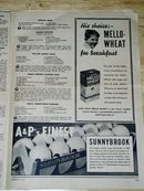 A & P Menu 3/18/1937   Cookbook  -  CK